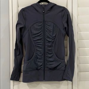 Lululemon dark grey zip up hoodie jacket